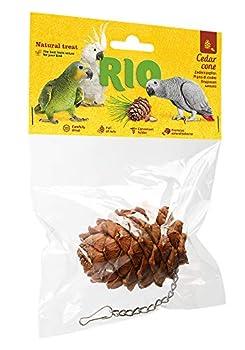 RIO Pomme de cèdre - Friandises Naturelles pour Oiseaux - 60 g