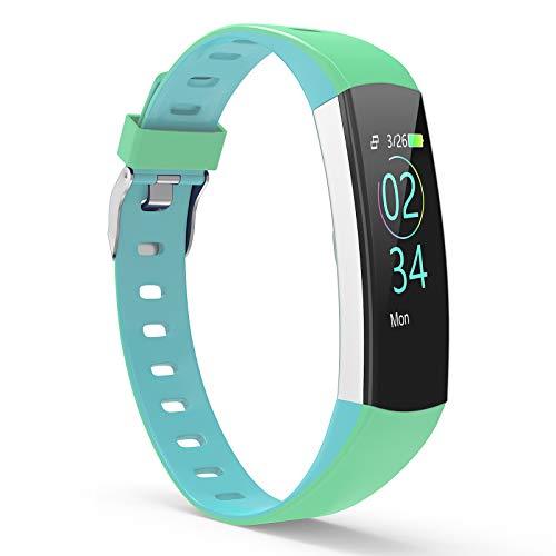 YoYoFit Fitness Armband Kinder, Wasserdicht IP67 GPS Fitness Tracker Aktivitätstracker Pulsmesser Schrittzähler Uhr mit Schlafen Anruf SMS Nachricht für Damen Herren Kinder
