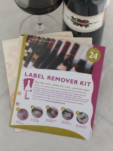 Wine Label Remover kit–24Wine Label Removers–vino Appeal prodotti