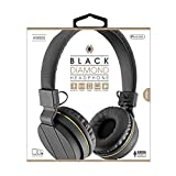 Sentry Black Diamond HeadPhones Digital Stereo Sound W/Microphone