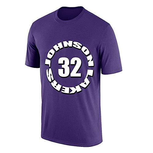 W&F Earvin Johnso # 32 Camisetas para Hombre Cuello Redondo...