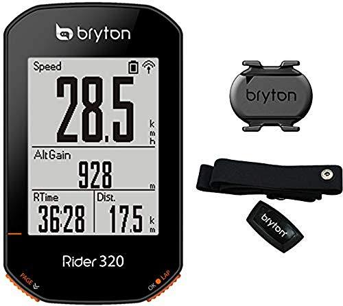 Bryton Rider 320 T CICLOCOMPUTADOR, Unisex Adulto, Negro