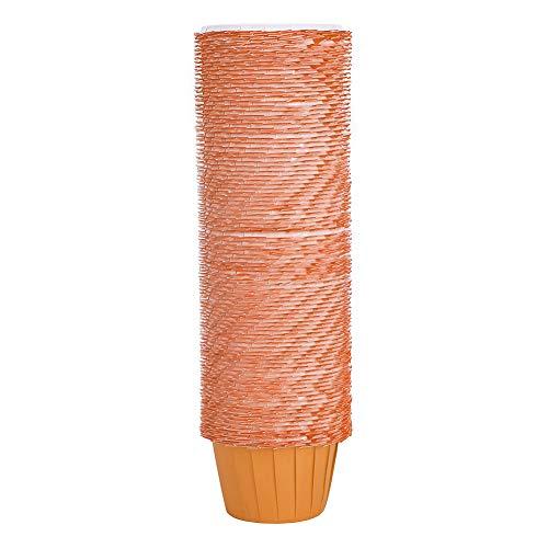 Cikonielf 100 pièces Bricolage Papier gâteau Tasse Papier Enduit Muffin Cupcake Dessert Emballage doublures Huile-Preuve Cuisine Cuisson Accessoire(Orange)