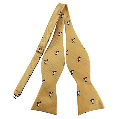 PenSee Nœud papillon en animaux mignon Motif jacquard tissé en soie Ties-various Styles - Jaune -