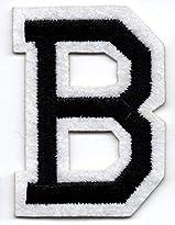 B – Buchstabe; Aufnäher/Patch mit Bügel-Klebe-Fläche zum fixieren