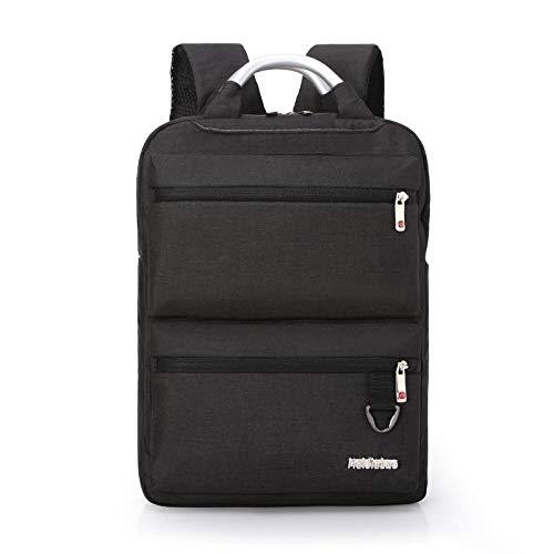 Mochila Backpack Impermeable Mochila De Moda Mochila De Hombre Mochila De Viaje De Negocios Mochila Impermeable para Portátil Mochila De Estudiante Informal para Hombre Negro Entrega Rápida Gratuita
