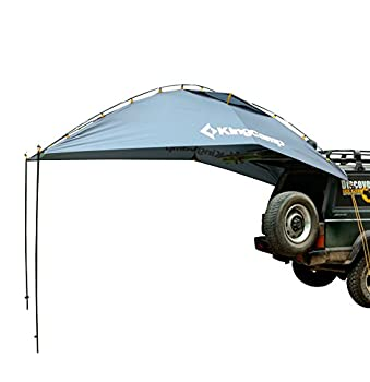 KingCamp Awning Sun Shelter SUV Tent Auto Canopy Portable Camper Trailer Tent Roof Top Car Shelter for Beach SUV MPV Hatchback Minivan Sedan Camping Outdoor Grey