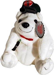 #0140 Coca-Cola Polar Bear in a Delivery Cap - Coke Bean Bag Plush