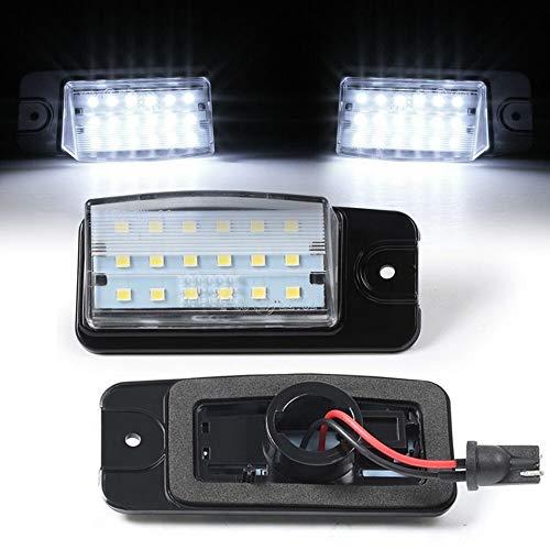 LOVELY Luces de matrícula de Coche 2pcs Car LED Licencia Número de Licencia Lámparas de luz Compatible con Nissan NV1500 NV2500 NV3500 X-Trail T32 Murano Altima Maxima Rogue Universal