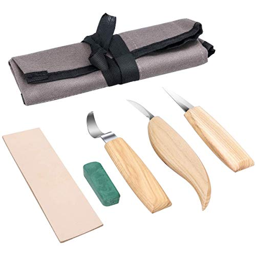 6 in 1 Carving Set Wood Carving Tools Set for Geometric Wood Carving