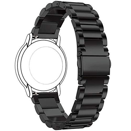 Ruentech Correa de Repuesto compatible con polar Vantage M Strap, Acero Inoxidable Correa de Metal para Vantage M GPS Smartwatch, Negro
