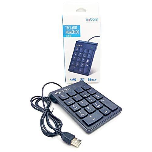 Teclado Numérico USB 18 Teclas Exbom BK-N30 Preto (preto)