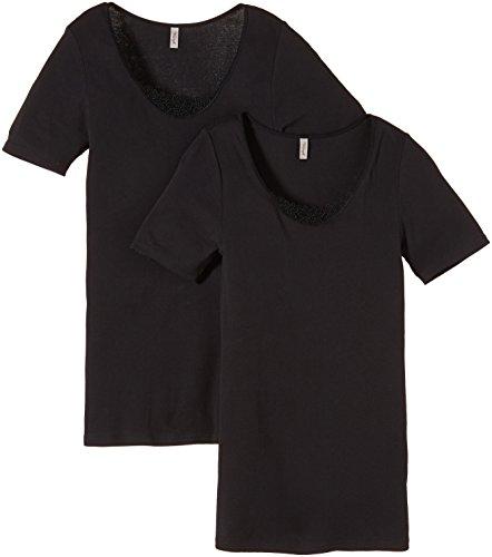 Triumph Damen Unterhemd Yselle Basics Shirt03 2P , Gr. 42, Schwarz (BLACK 04)