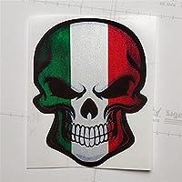 車のステッカー頭蓋骨幽霊悪魔の創造的な装飾デカール反射オートチューニングスタイリング13cm * 12cm (Color : 4, Size : 13cm*12cm)