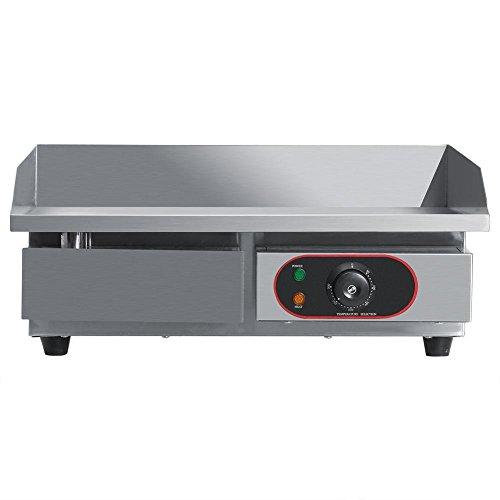 Plancha eléctrica de cocina con parrilla de cocina, placa eléctrica comercial Fry...