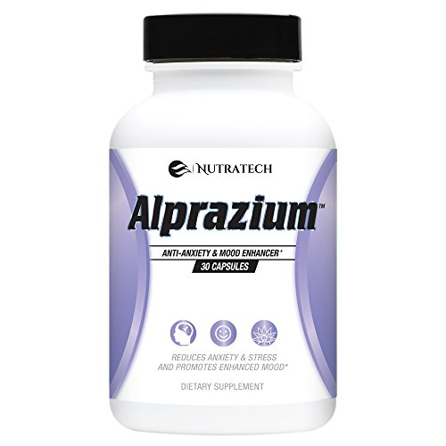 Alprazium - All Natural Stress Relief  Anti-Anxiety Supplement for Promoting Better Mood Relaxation Calming  fast Acting Formula to Reduce Stress Anxiety Panic Attacks (30 tablets) (Best Alternative To Minoxidil)