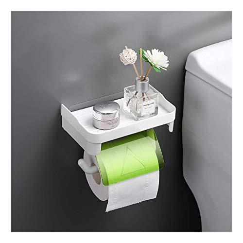 Toilettenpapierhalter Toilettenpapierhalter Wandhalterung Für Papierpapier Aus Papier Mit Geräumigem Regalständer Für Mobiltelefone , Selbstklebender Toilettenpapierhalter Für Bad/Küche(Color:Grün)