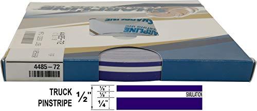 "Universal SL 0008007 - Auto Truck Customizing Dual Pinstripe - 8/16' x 150' (1/4"" Stripe, 1/8' Gap, Then 1/8"" Stripe) - 007-Regal Purple"