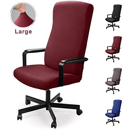 Coprisedia da ufficio Computer Coprisedia Coprisedili in simplismo Stile Moderno Elasticizzato Coprisedili rimovibile, per sedia girevole da ufficio con braccioli (sedia non inclusa) (Borgogna, L)