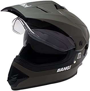 Steelbird SB-42 Bang Motocross Green with Double Visor,600mm