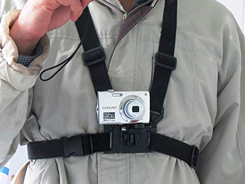 3 in 1 Mobile Phone, Camera, Action Cam Chest Mount Harness Strap Holder Band, Used for Action Sports, Capture Best Moments (Samsung, iPhone, GoPro, Yi, Sjcam, All Digital Cameras Etc)