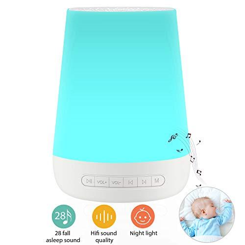 White Noise Machine for Sleeping - VanSmaGo Sleep Sound Machine & Night Light for Baby Kid...