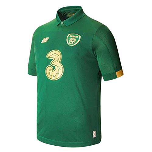 New Balance Herren FA Irland 2019/20 Home Ss Trikot S/s Top XL grün