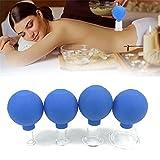 WeiX Vide Emboutissage Coupes Set, Acupuncture Massage Aspiration sous Vide Ventouses Kits, pour Tonique et de la Cellulite (Ensemble de 4)