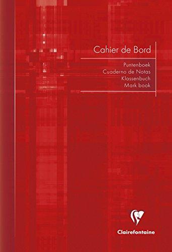 Clairefontaine 3139C - Cuaderno del profesor A4, 21 x 29,7 cm, 36 hojas, surtido: colores aleatorios (rojo, verde, azul, negro)