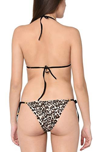 Xs and Os Women's Animal Leopard Print Bra Panty Set (Free Size)