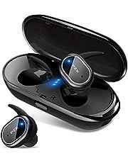 【2020最新版 Bluetooth5.0 Hi-Fi高音質】 Bluetooth イヤホン 自動ペアリング IPX6防水 スポーツ 左右分離型 ノイズキャンセリング&AAC対応 ブルートゥース イヤホン ワイヤレス タッチ式 軽量 両耳通話 Siri対応 技適認証済 日本語音声提示 iPhone/Android対応 (グレー)