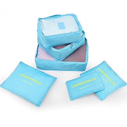 Wmeat-P Juego de bolsas de almacenamiento de viaje, organizador de equipaje de viaje duradero, para accesorios de viaje
