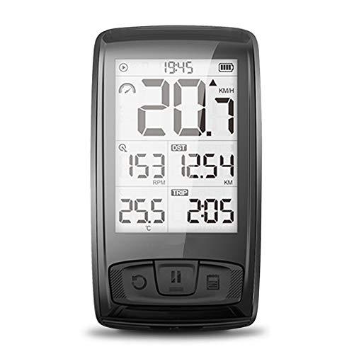 AWIS Ciclocomputadores,Bluetooth Inalámbrico Bicicleta de Carretera Velocímetro Cuentakilómetros Luz de Fondo IPX5...