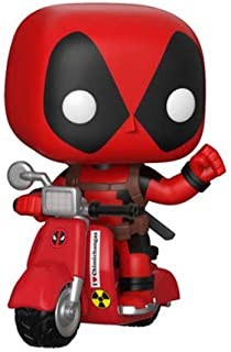 Funko Pop! Ride Marvel: Deadpool & Scooter Collectible Figure, Multicolor