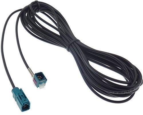 Rallonge pour antenne fAKRA femelle 6 m rG174 câble d'antenne coudé à droite
