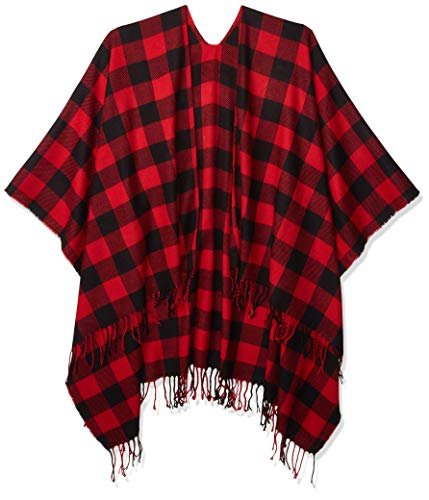 Plaid oversized wrap scarf