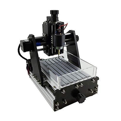 Mnjin Tragbare Mini-CNC-Fräsmaschine, 3-Achsen-DIY-Leiterplattenholz mit Staubtank-Lichtgravurmaschine, Standard