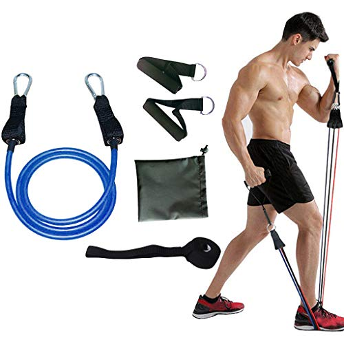 Clement Attlee Resistance Band Fitness Set Yoga Pilates Abs Exercise Tube Workout Bands Set