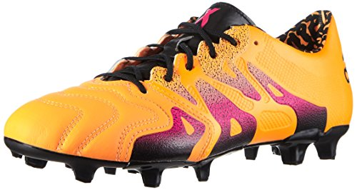 adidas Herren X 15.1 FG/AG Leather Fußballschuhe, Orange (Solar Gold/Shock Pink/Core Black), 46 EU