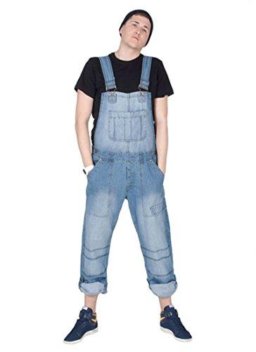 Peviani Donna - Salopette Taglio Largo - Lavato Chiaro Salopette di Jeans per Uomo Donna PEV03-XS