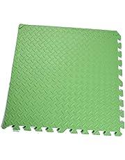 Sammankoppling mjuk skum golvmatta blandade mönster yoga MAt EVA pussel skum gym golv mattor skyddande golvplattor (färg: Grön, storlek: 8 st)