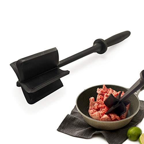 Weber's Wonders Meat Chopper Potato Masher Ground Beef Mix Utensil - Turkey Burger Kitchen Gadget - Multifunctional Heat Resistant Fruit Chop Mash Blend Tool - Non-Stick Nylon Blends