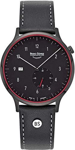 Bruno Söhnle Damen Analog Quarz Uhr mit Leder Armband 17-73212-761