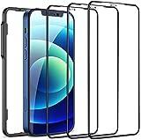 Cocoda 3 Pièces Verre Trempé Compatible avec iPhone 6,1 Pouces (12 et 12 Pro), Cadre d'Installation Facile, Sans Bulles, 9H Dureté, Anti-Rayures, HD Transparent Film Protection Écran