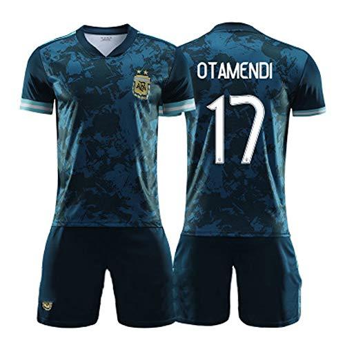 CBVB Camiseta de fútbol, Di Maria Dybala Otamendi, Camisetas de la Selección Argentina, 2020-2021 Visitante, Adultos y niños, Entrenamiento de Partidos, Personalizado-17#-XL