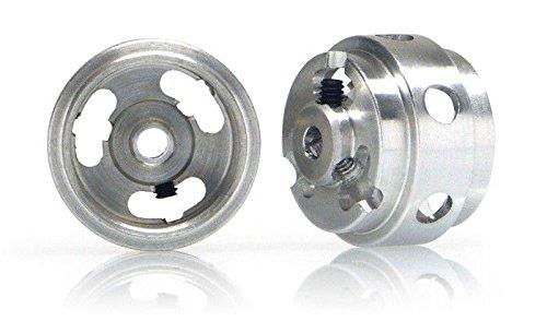 Mg 15 X 10 Short Hub Hollow Wheels M2 Grub Silver 09g 2