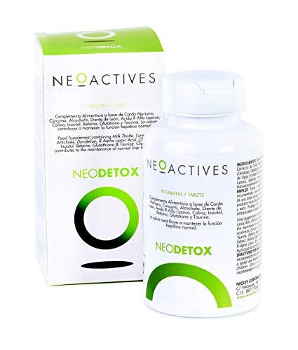 Neodetox | Complemento Alimenticio Vitamínico con Citrato de Colina, Diente de León, Cardo Mariano, Alcachofa, Ácido R-Alfa Lipoico, Betaína y más ingredientes naturales | Ayuda en la detoxificación