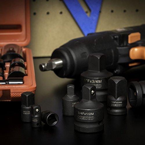 Neiko 30223A Impact Adapter and Reducer Set, 8 Piece | Cr-V | SAE
