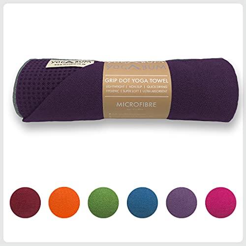 Yogabum Classic Collection Non-Slip Yoga Mat Towels (Dark Purple)