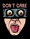 DON'T CARE: Halloween  for adults Face Mask Halloween Sketch Book Cute Halloween Sketchbook for Kids 3-5,7-9 Preschool, Teenand Adult Gift for Baby, ... for Doodling, Sketchbook for Young Artists